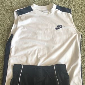 Bundle of Nike tank and Tapout shorts